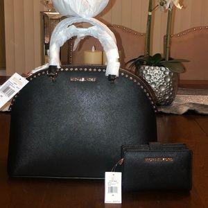 Michael Kors handbag and wallet set.